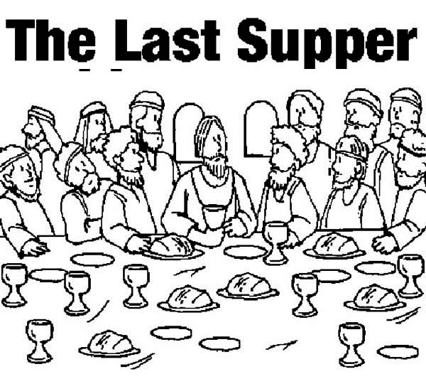 Picture Of The Last Supper Coloring Page : Kids Play Color
