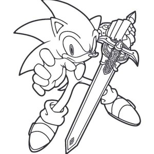 Sonic The Hedgehog Never Give Up Coloring Page : Kids Play