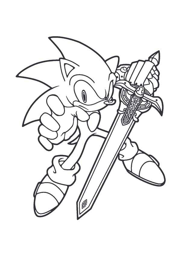 Sonic Blade Coloring Page : Kids Play Color