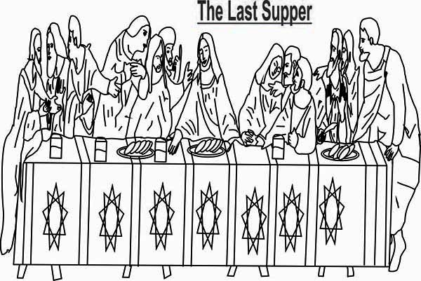 The Bible Last Supper Coloring Page : Kids Play Color