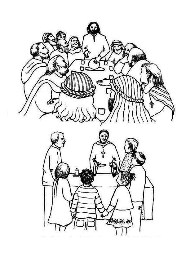 The History Of The Last Supper Coloring Page : Kids Play Color