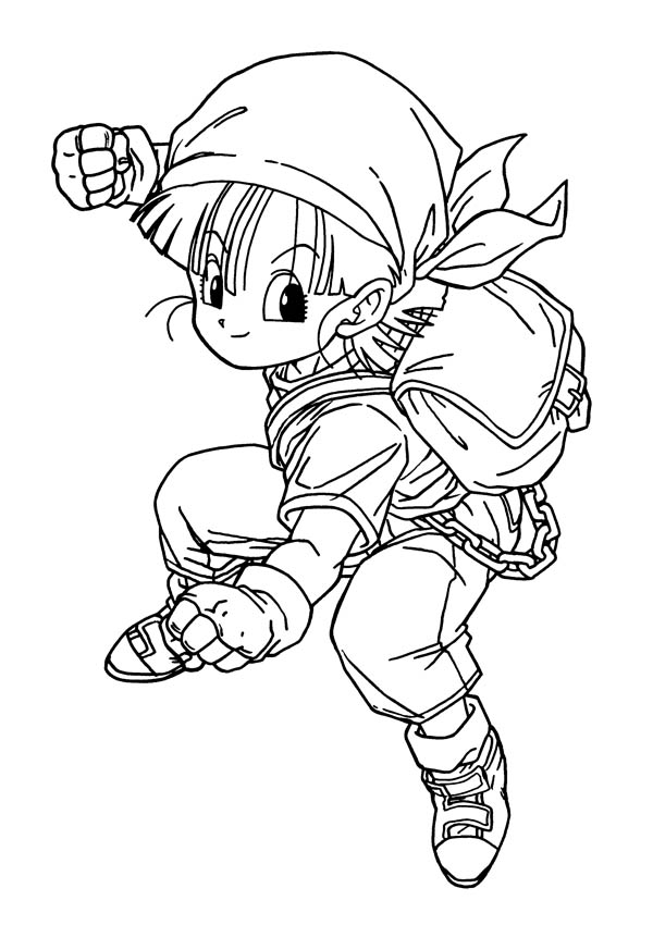 Young Bulma In Dragon Ball Z Coloring Page : Kids Play Color