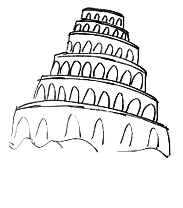 tower of babel coloring page # 86