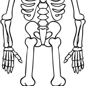 Friendly Skeleton Say Hi Coloring Page : Kids Play Color