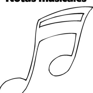 Trumpet Notes In Music Notes Coloring Page : Kids Play Color