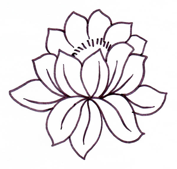 picture of lotus flower coloring page  kids play color