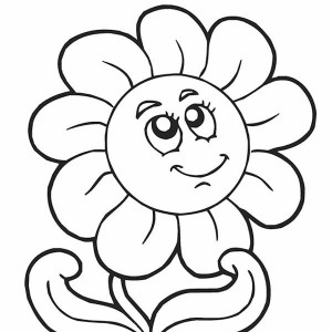 Sun Shine Bright In Spring Coloring Page : Kids Play Color