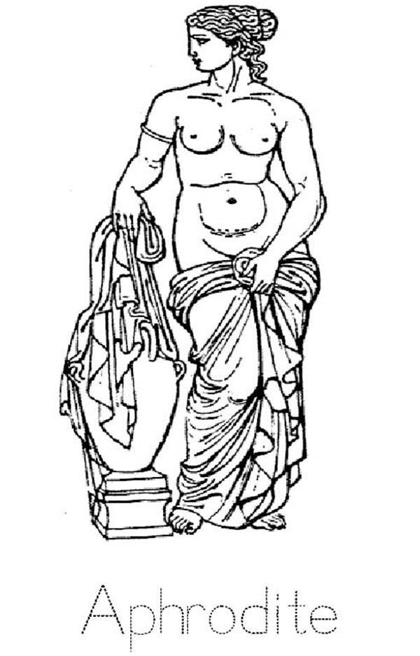 Greek Mythology Aphrodite Coloring Page : Kids Play Color