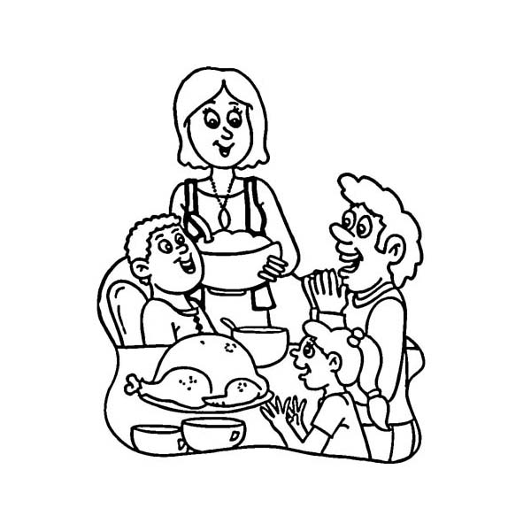 Canada Thanksgiving Day Around The World Coloring Page