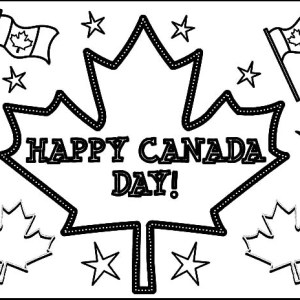 Full Of Happiness On National Canada Day Coloring Pages