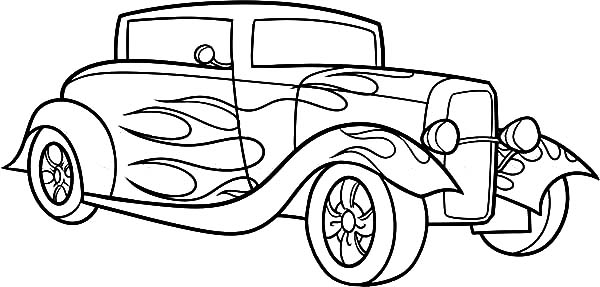 1934 Chevrolet Standard Hot Rod Cars Coloring Pages : Kids