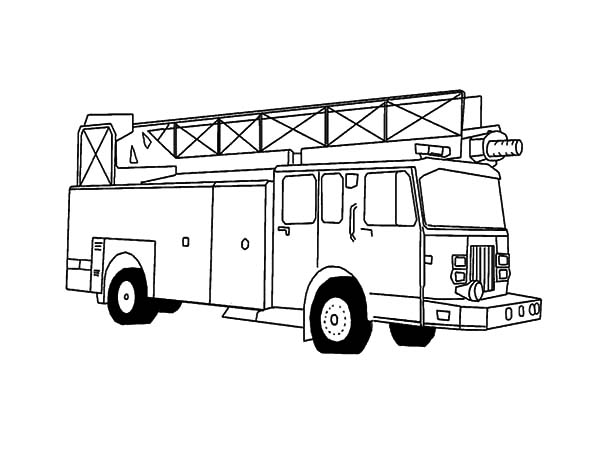 Awesome Fire Engine Coloring Pages : Kids Play Color