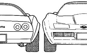 Chevrolet Cars Corvette 1953 Coloring Pages : Kids Play Color