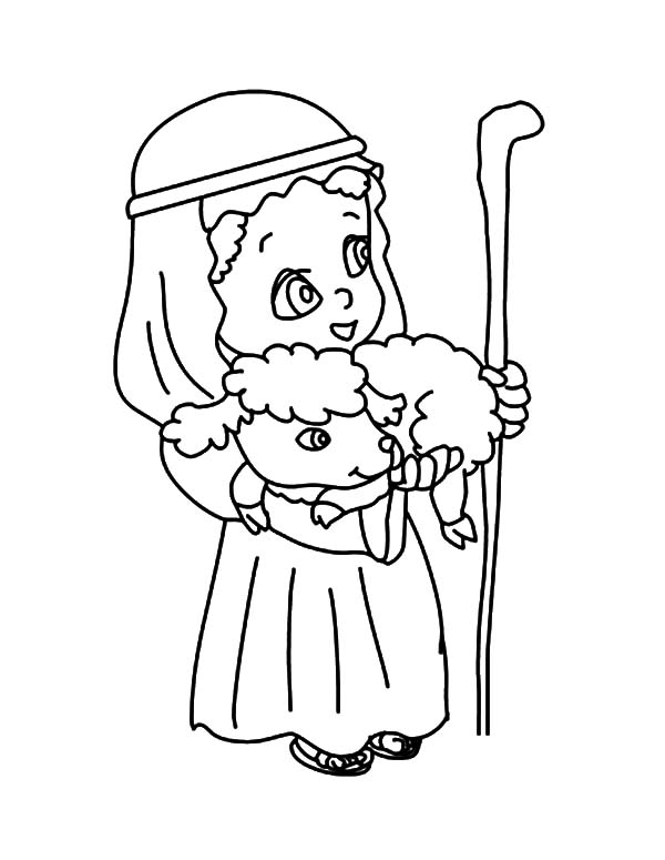Chibi Picture Of David The Shepherd Boy Coloring Pages