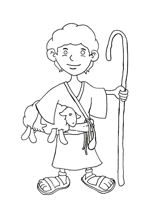 David The Shepherd Boy Coloring Pages For Kids : Kids Play