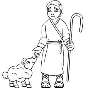 David The Shepherd Boy Sing A Song Praise To God Coloring