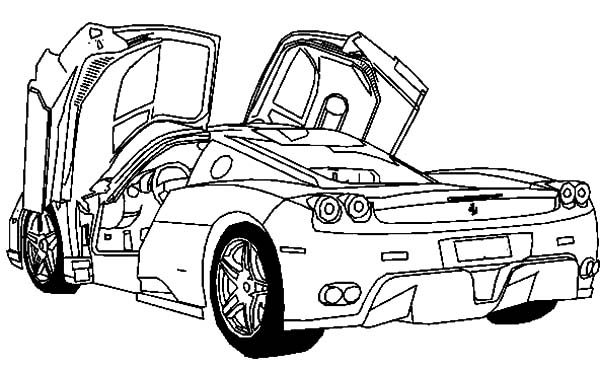 deluxe sport cars ferrari coloring pages  kids play color