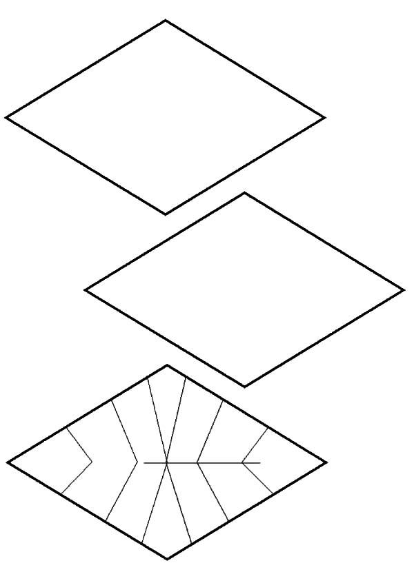 Diamond Shape Design Coloring Pages : Kids Play Color