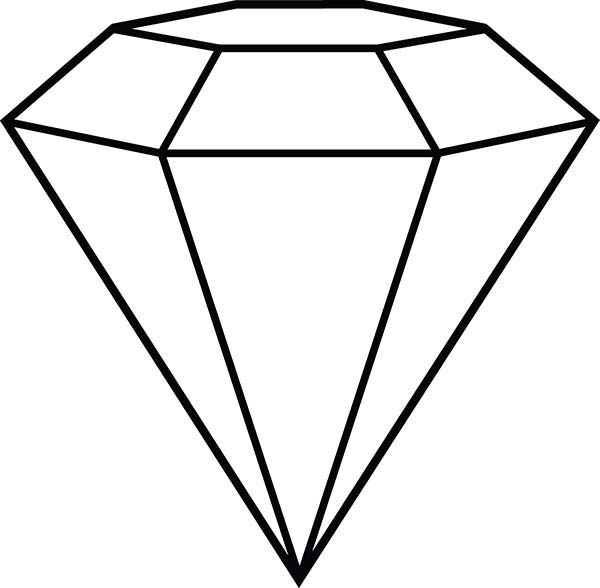 Diamond Shape Outline Coloring Pages : Kids Play Color