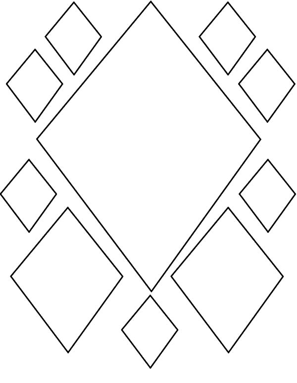 Diamond Shape Pattern Coloring Pages : Kids Play Color