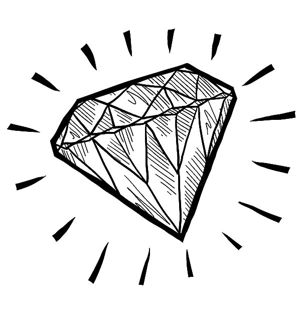 Diamond Shape Sketch Coloring Pages : Kids Play Color