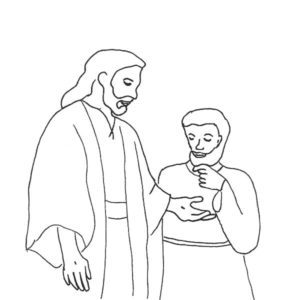 Bible Story Doubting Thomas Coloring Pages : Kids Play Color