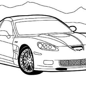 How To Draw Corvette Cars Coloring Pages : Kids Play Color