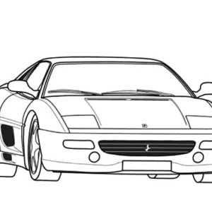 Drawing Ferrari Cars F50 Coloring Pages : Kids Play Color