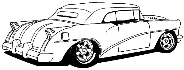 Hot Rod Cars Coloring Pages For Kids : Kids Play Color