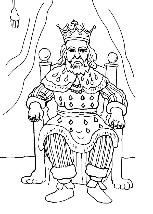 How To Draw King Coloring Pages : Kids Play Color