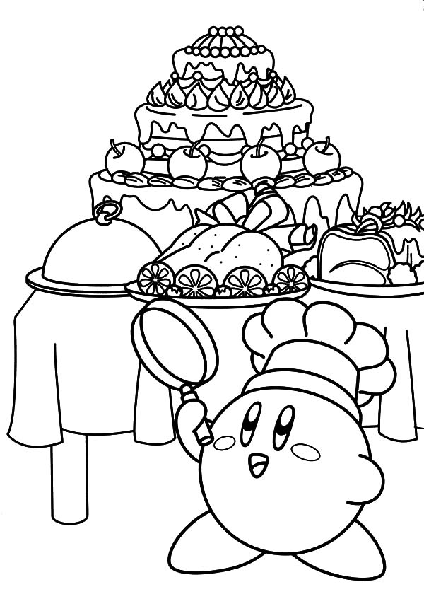 Kirby The Chef Coloring Pages : Kids Play Color