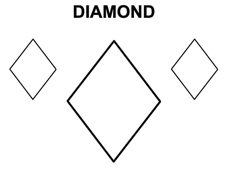 Learning To Draw Diamond Shape Coloring Pages : Kids Play