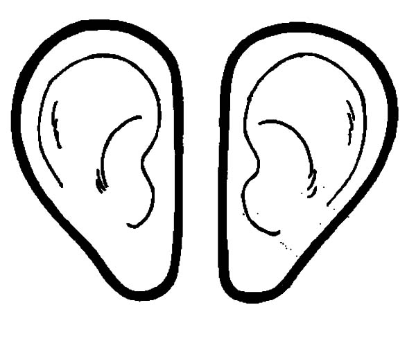 Pair Of Ear Coloring Pages : Kids Play Color