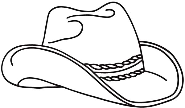 Realistic Cowboy Hat Picture Coloring Pages : Kids Play Color