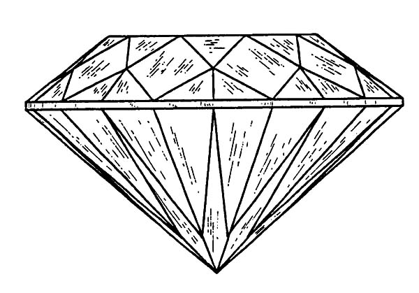 Sketch Of Diamond Shape Coloring Pages : Kids Play Color