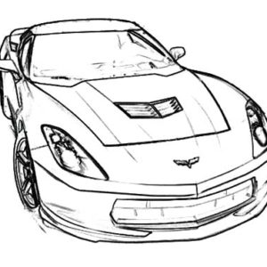 Chevrolet Corvette Cars 1970 Coloring Pages : Kids Play Color