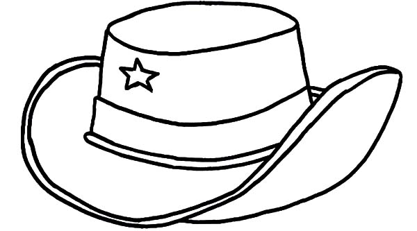 Texas Cowboy Hat Coloring Pages : Kids Play Color