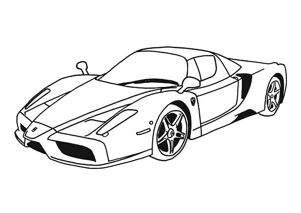 top speed cars enzo ferrari coloring pages  kids play color