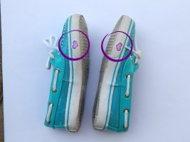 circled shoe