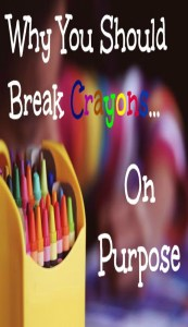 Learn how to improve kid's pencil grasp through this simple tip about broken crayons.  Try out this easy idea.