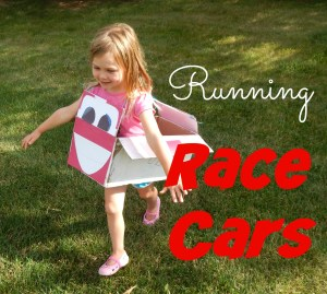 Make exercising fun for your child by turning them into a running race car! This motivating game will surly get your child's engine running in full gear! If you're looking for a real car to have fun with, check out this <a href=