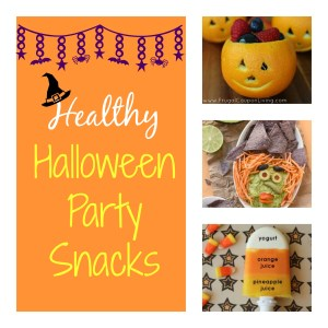 "Halloween snacks that are healthy and festive and taste good ""witch"" are sure to be big a hit at the party !"