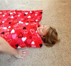 rolling up blanket 2