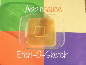 Applesauce Etch-O-Sketch