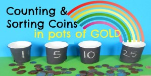 Counting & Sorting Coins in Pots of Gold