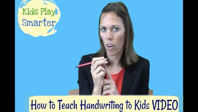 Teaching Handwriting to Kids Video