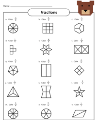 Basic Fractions Worksheet Free Worksheets Library