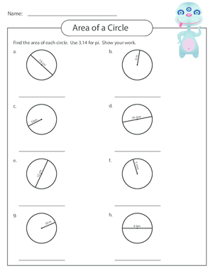 Measuring Area Worksheet