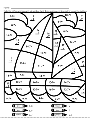 All Worksheets » Double Digit Addition Coloring Worksheets