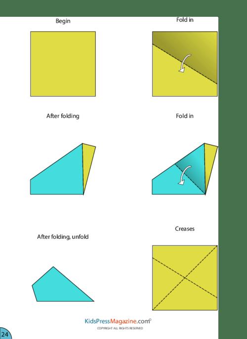 origami eagle instructions diagram car deck wiring paper airplane kidspressmagazine com